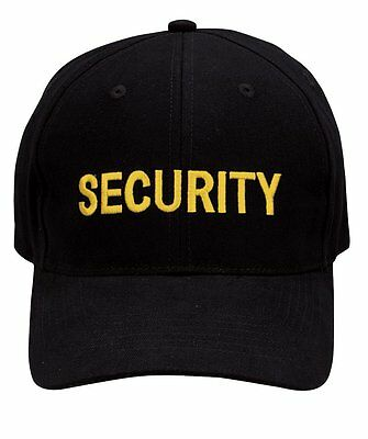 - Security Supreme Low Profile Insignia Cap - Black & Gold 9284 Rothco