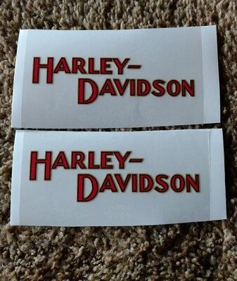 2 Small Old  School Harley Davidson Tank Decals