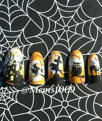 Halloween Nail Wraps water decals Opaque Nail wraps Halloween Nail wraps - Nail Wraps Halloween