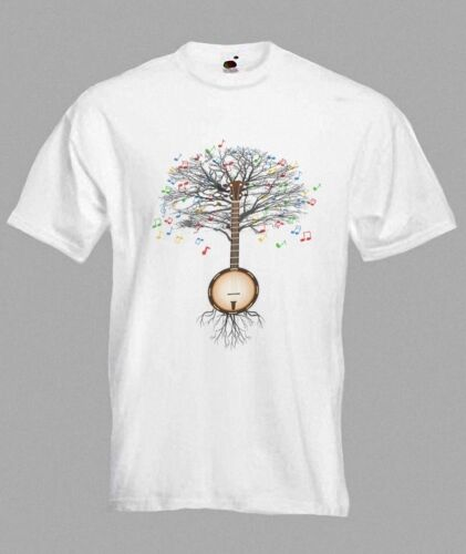Banjo T Shirt Musical Banjo Tree In Sizes Small To Xxl Ebay