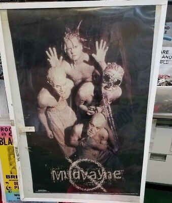 MUDVAYNE POSTER NEW 2001  RARE VINTAGE COLLECTIBLE OOP LIVE