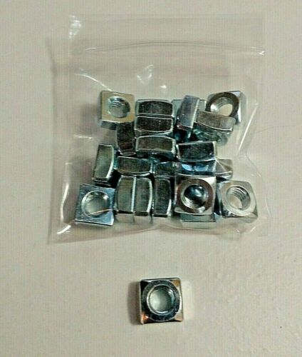 "5/16"" - 18 Square Nuts - Zinc Coated Steel - Qty: 25 - Lot# 1023"