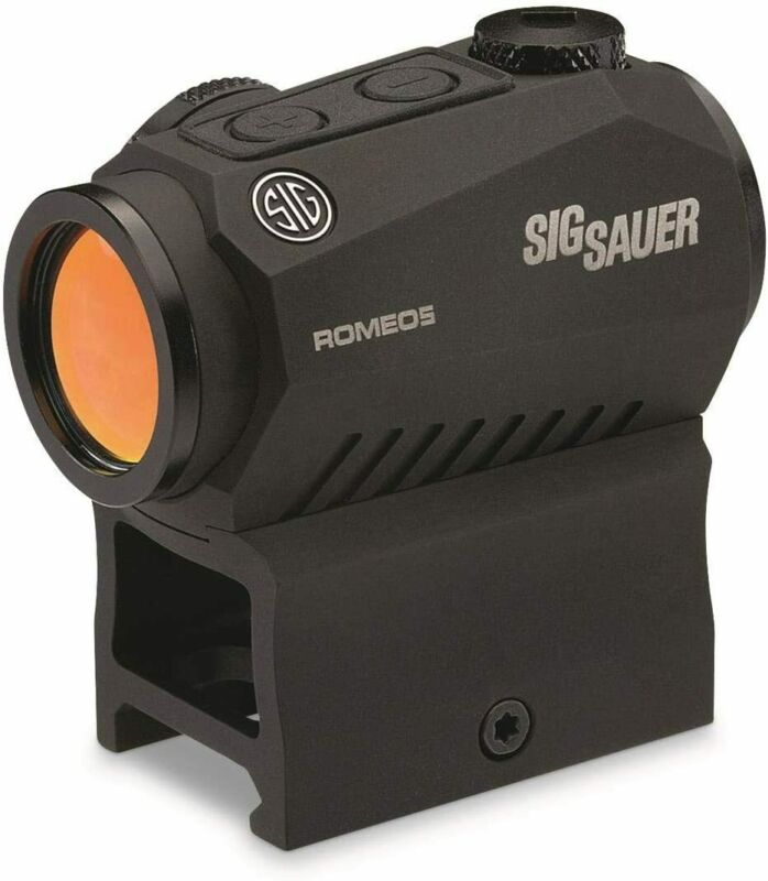 Sig Sauer Romeo5 SOR52001 1x20mm Compact 2 MOA Red Dot Sight (High & Low Mount)