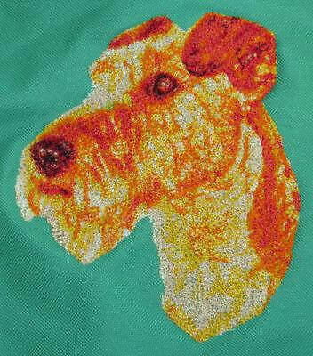 WELSH TERRIER embroidered denim shirt XS-XL