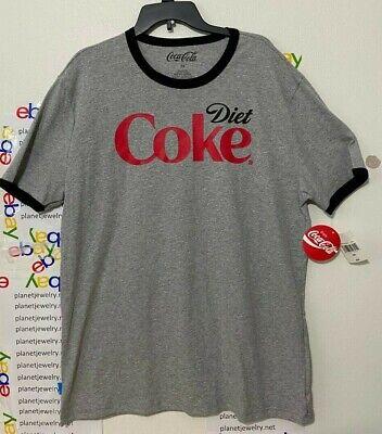 Diet COKE Ringer TEE Coca-Cola Brand T-SHIRT MEN'S Size 2XL NEW W/TAG!