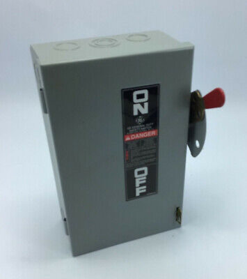 General Electric Tg3221 30a 240v 2 Pole Fusible Disconnect Safety Switch New