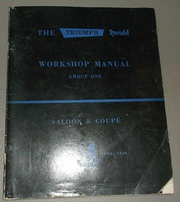 1960 Triumph Workshop Manual Original Group 1 Engine Cooling Fuel Exhaust