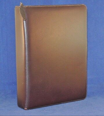 1.5 Rings Classic Leather Franklin Quest Covey Binder - Burgundy