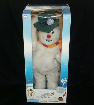 Gemmy Frosty The Snowman Spinning Snowflake Musical Animated READ DESCRIPTION
