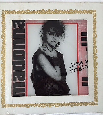 1985 Madonna Like A Virgin Glass Picture Poster Carnival Fair prize rare