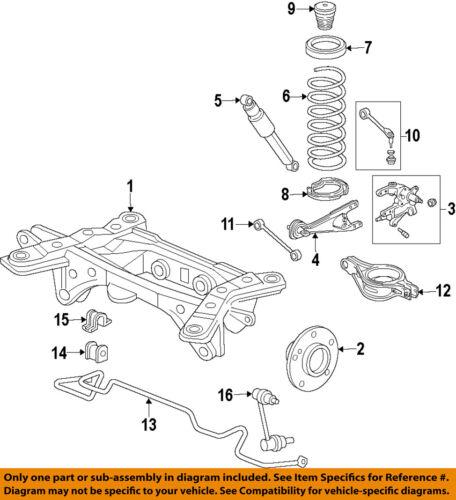 2009 2010 2011 2012 2013 2014 2015 Honda Pilot Rear Shocks Absorbers Sway Bars