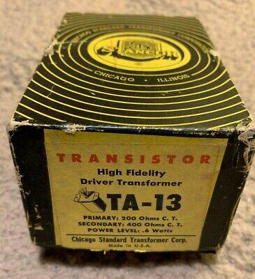 Stancor Ta13 Transistor Driver Transformer Primary 200 Ohms Ct Secondary 400 Ct