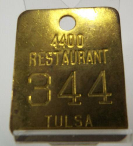 4400 RESTAURANT, TULSA, OK, brass coat check - UNCOMMON TULSA ITEM!!