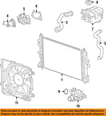 Chevrolet GM OEM 14-16 Spark EV Cooling System-Radiator 22960943