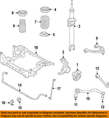 BMW OEM 09-15 750Li Stabilizer Sway Bar-Front-Link 31356777319