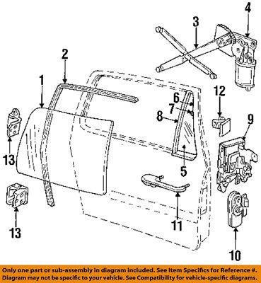 Dodge CHRYSLER OEM 92-93 Ramcharger Door-Window Motor 55154645