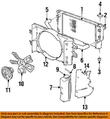 Dodge CHRYSLER OEM 94-02 Ram 3500 5.9L-V8 Cooling Fan-Radiator Shroud 52028002AD