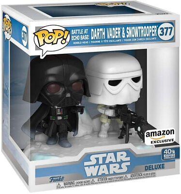 IN HAND! Funko POP! Star Wars Battle at Echo Base - Darth Vader & Snowtrooper