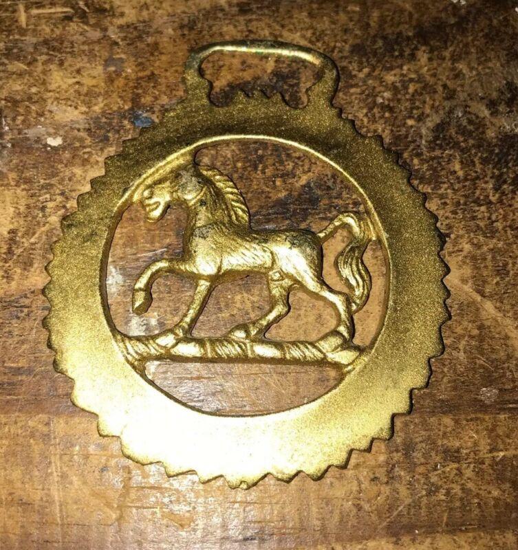 Stallion Brass Horse Harness Medallion Bridle Saddle Tack Horse