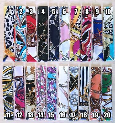 1 pc Silk Twilly Scarf, Twill Handbag Handle Wrap Purse Scarves, Hair Bow Ribbon