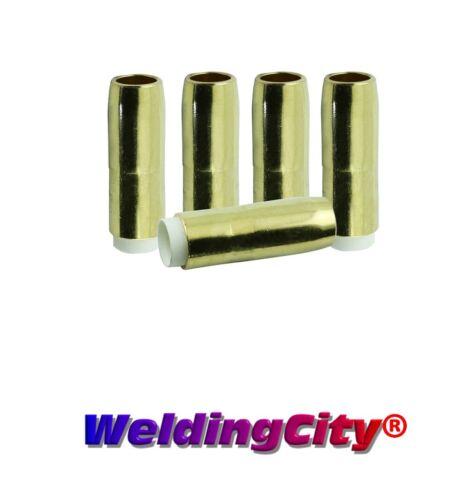 "WeldingCity® 5-pk Gas Nozzle 4391 (5/8"") for Bernard MIG Welding Gun | US Seller"