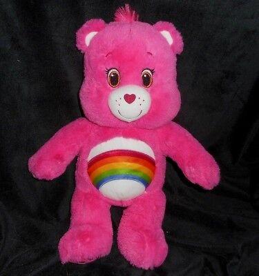 43.2cm Build A Bear Pink Cheer Care Regenbogen Plüschtier Spielzeug BABW
