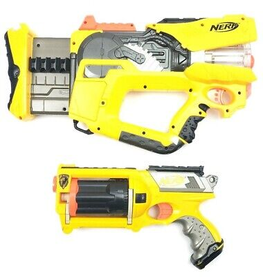 Nerf N-Strike Firefly Rev-8 & Maverick Rev-6 Dart Gun Blaster Toys Light Up Work