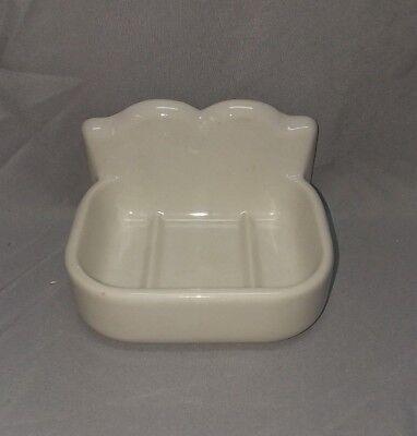 Vtg Ceramic White Porcelain Wall Mount Soap Dish Fixture 110-18F