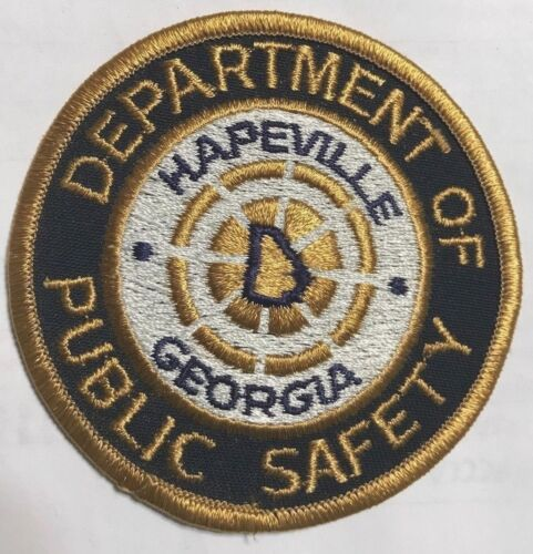 """vintage """"HAPEVILLE DEPARTMENT OF PUBLIC SAFETY"""" PATCH ga GEORGIA police officer"""