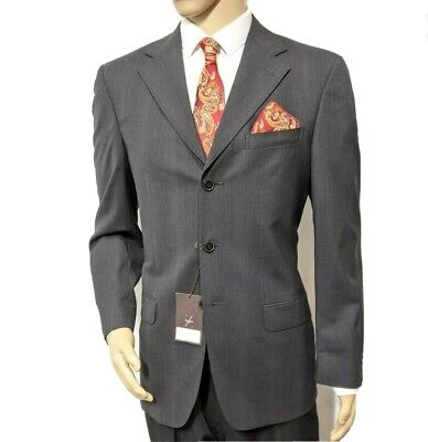 BNWT Ermenegildo Zegna Mens Suit Charcoal Stripe Mr Porter UK 38R W31...