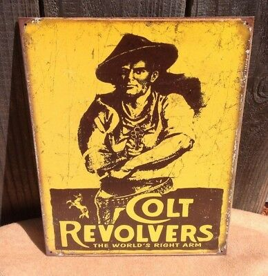d70c1ee648f COLT REVOLVERS Gun Classic Tin Sign Wall Bar Decor Garage Classic