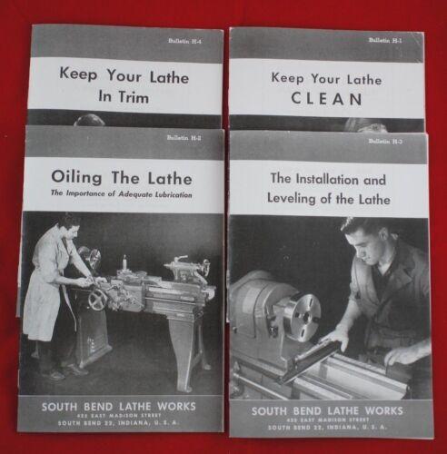 South Bend Metal Lathe Works Setup Instruction Training Bulletin Manual Set of 4