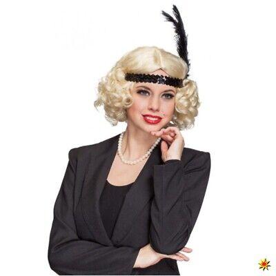20er Jahre Damen Perücke blond Bob-Schnitt Locken Fasching - 20er Jahre Perücke