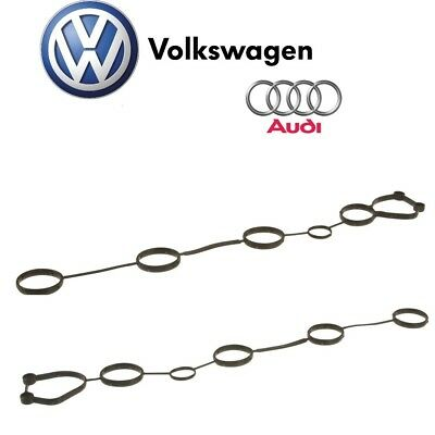 For Audi A6 Quattro R8 RS4 VW Touareg Pair Set of 2 Inner Valve Cover Gasket