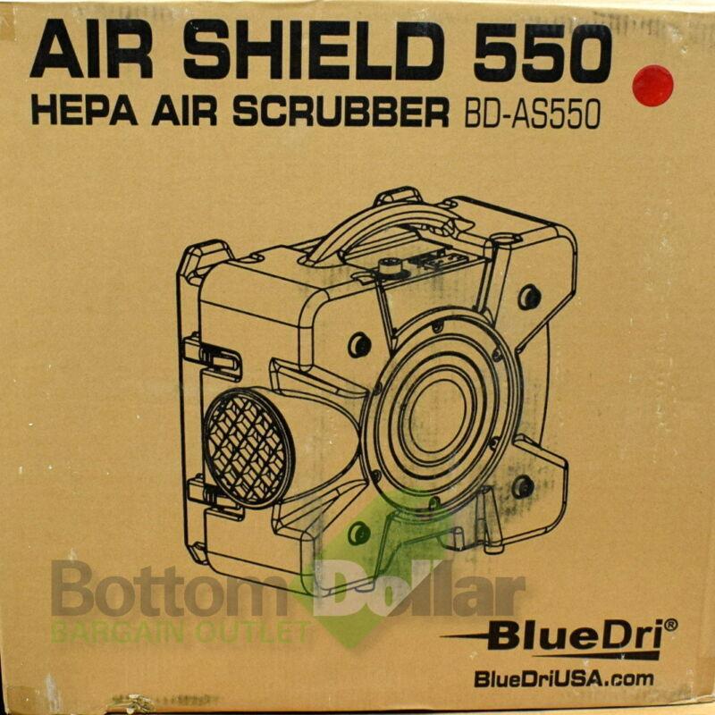 BlueDri BD-AS-550-RED 60 Hz 115 Voltage Air Shield 550 HEPA Air Scrubber Red