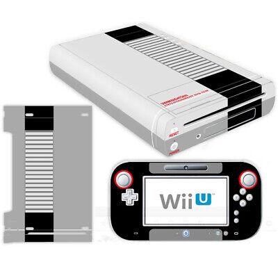 - Nintendo Wii U Console Controllers Skin Kit NES Retro Vinyl Decals Stickers Case