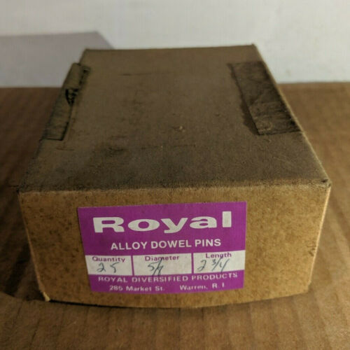 """Pack of 25 - 5/8"""" x 2-3/4"""" Royal Dowel Pins Alloy Steel"""