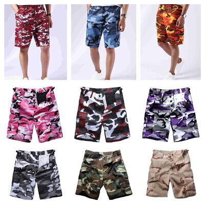 Mens Boys Army Military BDU Shorts Outdoor Hunt Camp Casual Camo Cargo Shorts](Boys Military)