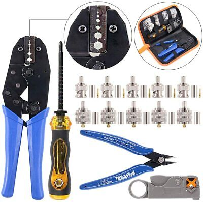 Swpeet 14pcs Professional Crimping Tool Kit Ratcheting Wire Terminal Crimper 50