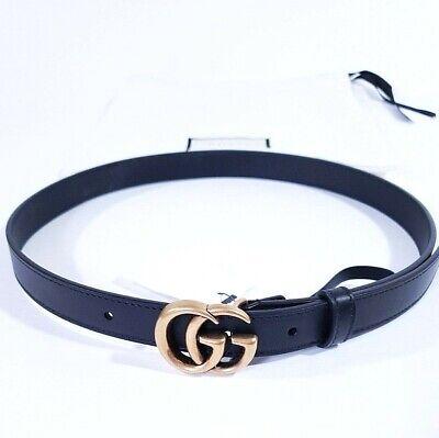 Womens Leather Gucci Belt Black 70 28