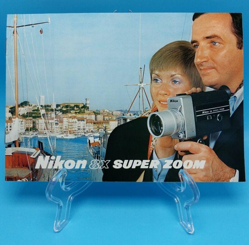 NIKON 8X SUPER ZOOM MOVIE CAMERA ca 1972 Sales Literature Guide Brochure