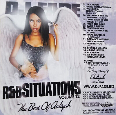 THE BEST OF AALIYAH R&B SITUATIONS [MIXTAPE CD] RNB MIX MARY J BLIGE BEYONCE (The Best Of Beyonce Cd)