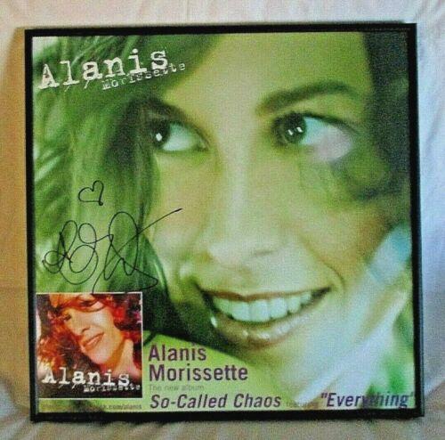 Alanis Morissette SO-CALLED CHAOS, Autographed & Framed Poster, Maverick PROMO