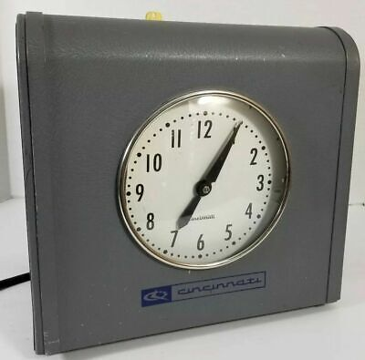 Large Vintage Cincinnati Time Recorder Co Time Clock Industrial Model 2100 X
