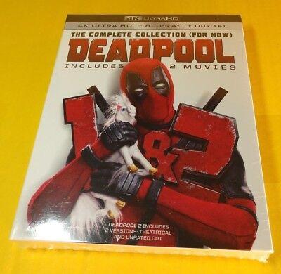 Deadpool 1 + 2 (4K Ultra HD+Blu-ray+HD Digital Code)Slipcover-NEW-Free Shipping