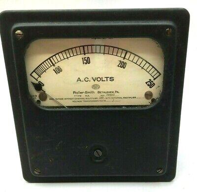 Roller Smith Vintage Voltage Transformer Type Ra Serial 349697 Htf Free Ship