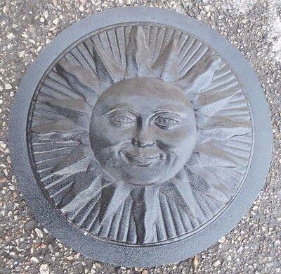 Garden Molds (Plastic Sun plaque mold concrete plaster garden casting mold)