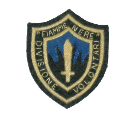 "Italian WW2 sleeve patch for the ""Fiamme Nere Division Volontari"""