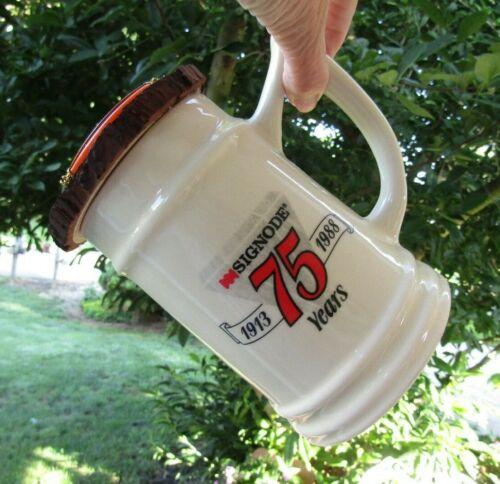 Birdhouse ceramic mug bird house signode beer stein tankard hand crafted