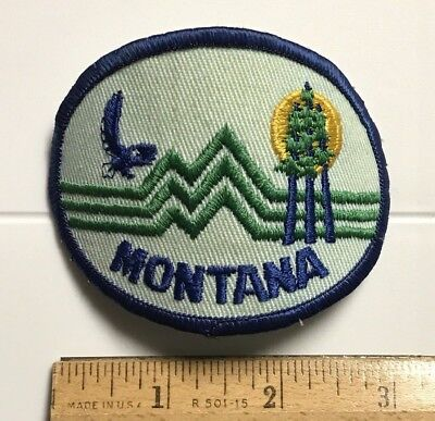 Montana Mountains Eagle Trees MT Souvenir Embroidered Patch Badge